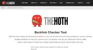 THE HOTH (Backlink Checker Tool)